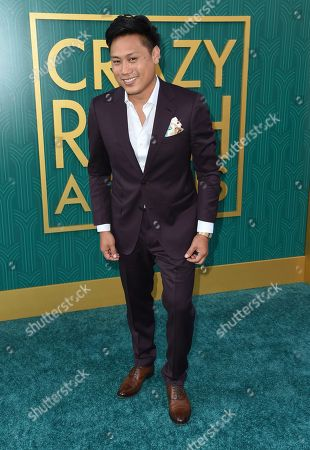 """Jon M. Chu arrives at the premiere of """"Crazy Rich Asians"""" at the TCL Chinese Theatre, in Los Angeles"""
