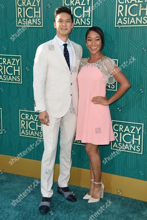 """Harry Shum Jr., Shelby Rabara. Harry Shum Jr., left, and Shelby Rabara arrive at the premiere of """"Crazy Rich Asians"""" at the TCL Chinese Theatre, in Los Angeles"""