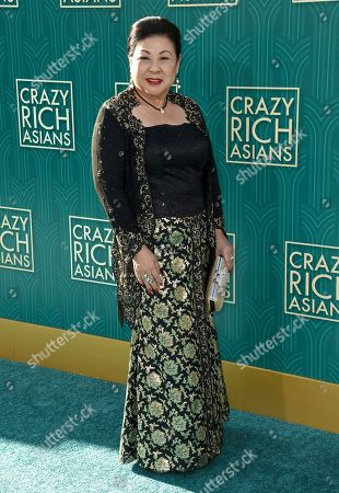 """Koh Chieng Mun arrives at the premiere of """"Crazy Rich Asians"""" at the TCL Chinese Theatre, in Los Angeles"""