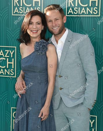 "Perrey Reeves, Aaron Fox. Perrey Reeves, left, and Aaron Fox arrive at the premiere of ""Crazy Rich Asians"" at the TCL Chinese Theatre, in Los Angeles"