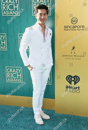 """Pierre Png arrives at the premiere of """"Crazy Rich Asians"""" at the TCL Chinese Theatre, in Los Angeles"""