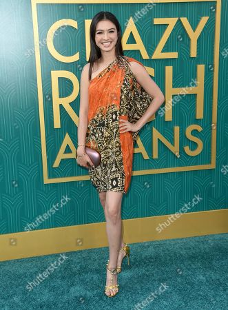 """Raline Shah arrives at the premiere of """"Crazy Rich Asians"""" at the TCL Chinese Theatre, in Los Angeles"""