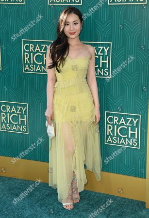"""Victoria Loke arrives at the premiere of """"Crazy Rich Asians"""" at the TCL Chinese Theatre, in Los Angeles"""