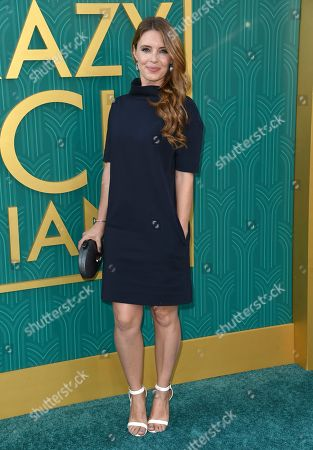 """Stock Photo of Amy Louise Pemberton arrives at the premiere of """"Crazy Rich Asians"""" at the TCL Chinese Theatre, in Los Angeles"""