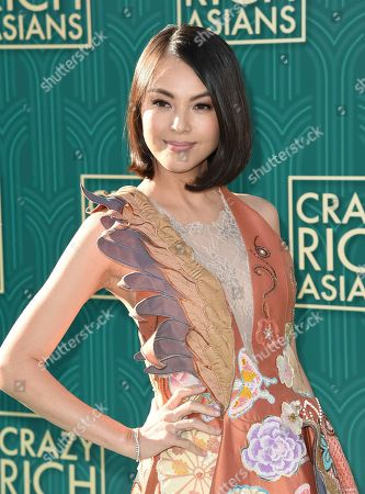 "Stock Photo of Carmen Soo arrives at the premiere of ""Crazy Rich Asians"" at the TCL Chinese Theatre, in Los Angeles"
