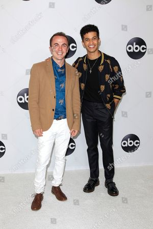 US actors (L-R) Frankie Muniz and Jordan Fisher arrive at the ABC TCA Summer Press Tour 2018 at the Beverly Hilton Hotel in Beverly Hills, California, USA 07 August 2018.