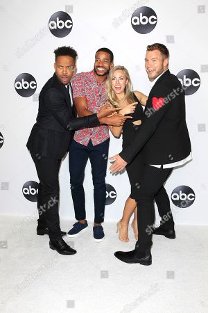 US actors (L-R) Wills Reid, Eric Bigger, Kendall Long, Colton Underwood arrive at the ABC TCA Summer Press Tour 2018 at the Beverly Hilton Hotel in Beverly Hills, California, USA 07 August 2018.