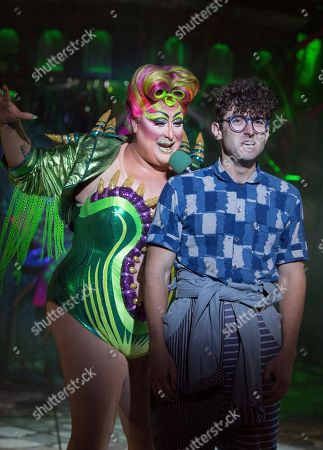 Vicky Vox as Audrey II, Marc Antolin as Seymour