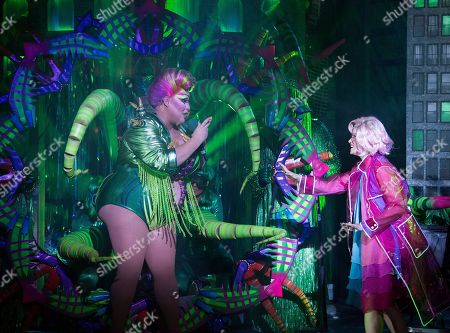 Vicky Vox as Audrey II, Jemima Rooper as Audrey