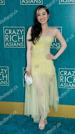 Actress/cast member Victoria Loke attends the US premiere of 'Crazy Rich Asians' at the TCL Chinese Theatre IMAX in Hollywood, Los Angeles, California, USA, 07 August 2018. The movie opens in the US on 15 August.