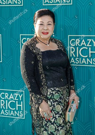 Singaporean actress/cast member Koh Chieng Mun attends the US premiere of 'Crazy Rich Asians' at the TCL Chinese Theatre IMAX in Hollywood, Los Angeles, California, USA, 07 August 2018. The movie opens in the US on 15 August.