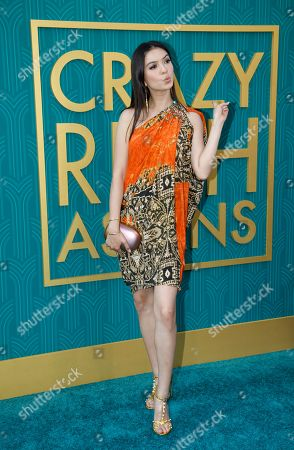 Indonesian actress Raline Shah attends the US premiere of 'Crazy Rich Asians' at the TCL Chinese Theatre IMAX in Hollywood, Los Angeles, California, USA, 07 August 2018. The movie opens in the US on 15 August.