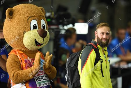 Robert Harting (R) of Germany after the Men's Discus Throw at the Athletics 2018 European Championships, Berlin, Germany, 08 August 2018.