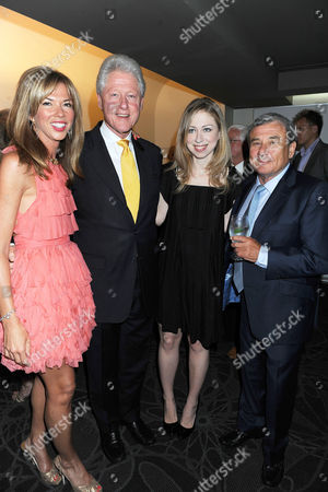 Heather Kerzner, Bill Clinton, Chelsea Clinton and Sol Kerzner