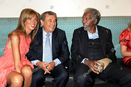 Heather Kerzner, Sol Kerzner and Morgan Freeman