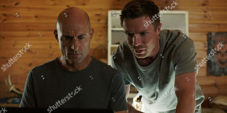 Mark Strong as Max Easton and Joe Dempsie as Harry Clarke