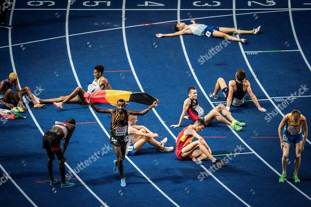 Abdi Bashir (Belgium) wins silver medal on 10000m during the European Championships 2018, at Olympic Stadium in Berlin