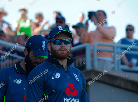 Jonathan Marc Bairstow of England enters the field during the 5th ODI Royal London One-Day Series.