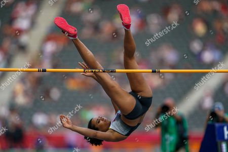 Marie-Laurence Jungfleisch of Germany during High jump qualification for women at the Olympic Stadium in Berlin at the European Athletics Championship