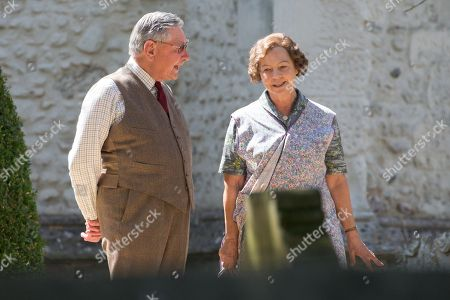 Editorial image of 'Granchester' TV show on set filming, Cambridge, UK - 06 Aug 2018