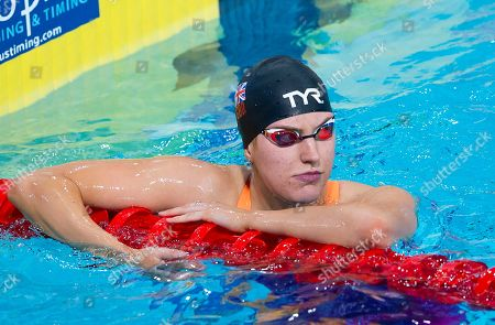 Great Britain's Charlotte Atkinson after her 50m Butterfly heat.
