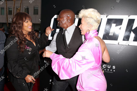 Stock Photo of Kym Whitley, Terry Crews and Rebecca Crews