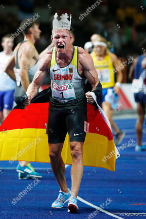 Arthur ABELE (GER) winner of decathlon during the European Championships 2018, at Olympic Stadium in Berlin, Germany, Day 2, on August 8, 2018