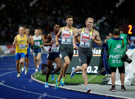 Arthur ABELE (GER)  &  Niklas KAUL (GER) competes during the European Championships 2018, at Olympic Stadium in Berlin, Germany, Day 2, on August 8, 2018