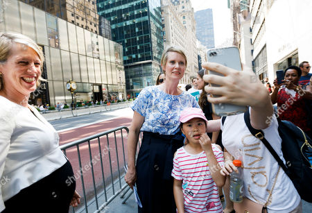 Editorial picture of Cynthia Nixon Endoreses Zephyr Teachout for NY Attorney General, New York, USA - 08 Aug 2018