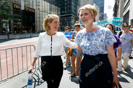Editorial image of Cynthia Nixon Endoreses Zephyr Teachout for NY Attorney General, New York, USA - 08 Aug 2018