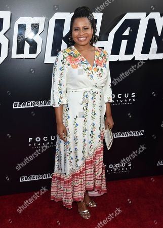 "Courtney Kemp Agboh arrives at the premiere of ""BlacKkKlansman"", at the Samuel Goldwyn Theater in Beverly Hills, Calif"