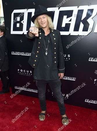 "Stock Photo of Jukka Hilden arrives at the premiere of ""BlacKkKlansman"", at the Samuel Goldwyn Theater in Beverly Hills, Calif"