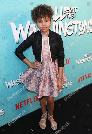 Leah Rose Randall is seen at Netflix's All About the Washingtons Premiere Party at Madera Kitchen on in Los Angeles
