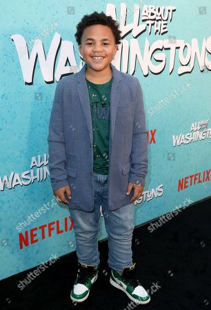 Maceo Smedley is seen at Netflix's All About the Washingtons Premiere Party at Madera Kitchen on in Los Angeles