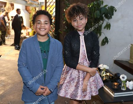 Stock Photo of Maceo Smedley, Leah Rose Randall. Maceo Smedley, left, and Leah Rose Randall are seen at Netflix's All About the Washingtons Premiere Party at Madera Kitchen on in Los Angeles