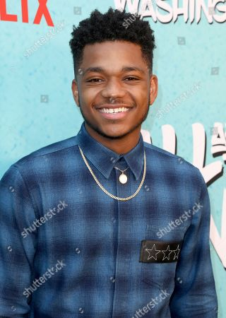 Nathan Anderson is seen at Netflix's All About the Washingtons Premiere Party at Madera Kitchen on in Los Angeles