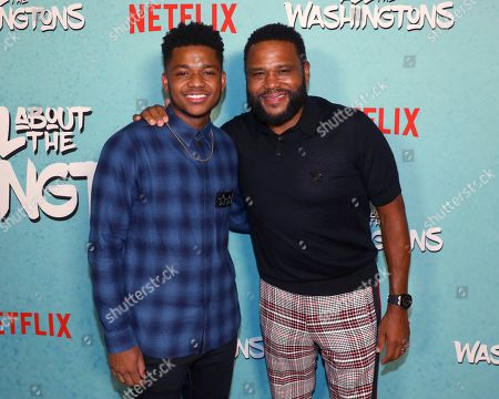Nathan Anderson, Anthony Anderson. Nathan Anderson, left, and Anthony Anderson are seen at Netflix's All About the Washingtons Premiere Party at Madera Kitchen on in Los Angeles