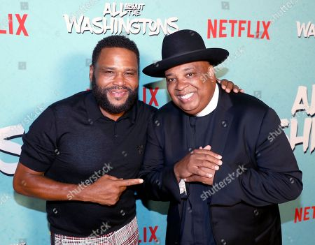 Anthony Anderson, Joseph Simmons. Anthony Anderson, left, and Joseph Simmons are seen at Netflix's All About the Washingtons Premiere Party at Madera Kitchen on in Los Angeles