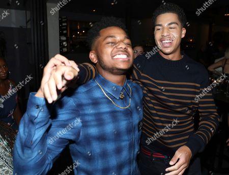Nathan Anderson, Marcus Scribner. Nathan Anderson, left, and Marcus Scribner are seen at Netflix's All About the Washingtons Premiere Party at Madera Kitchen on in Los Angeles