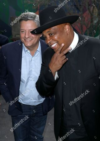 Ted Sarandos, Joseph Simmons. Ted Sarandos, chief content officer for Netflix, left, and Joseph Simmons are seen at Netflix's All About the Washingtons Premiere Party at Madera Kitchen on in Los Angeles