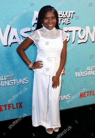 Trinitee Stokes is seen at Netflix's All About the Washingtons Premiere Party at Madera Kitchen on in Los Angeles