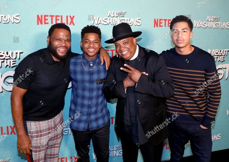 Anthony Anderson, Nathan Anderson, Joseph Simmons, Marcus Scribner. Anthony Anderson, from left, Nathan Anderson, Joseph Simmons and Marcus Scribner are seen at Netflix's All About the Washingtons Premiere Party at Madera Kitchen on in Los Angeles