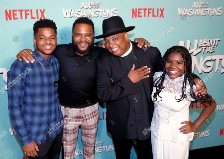 Anthony Anderson, Nathan Anderson, Joseph Simmons, Trinitee Stokes. Anthony Anderson, from left, Nathan Anderson, Joseph Simmons and Trinitee Stokes are seen at Netflix's All About the Washingtons Premiere Party at Madera Kitchen on in Los Angeles