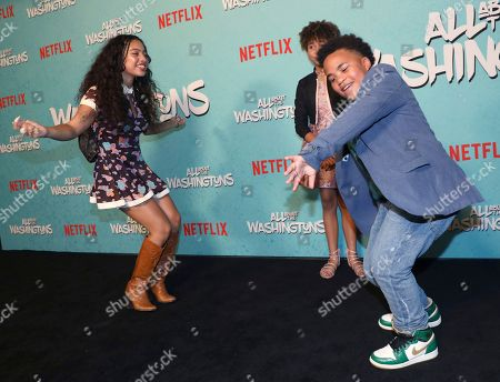 Kiana Ledé, Leah Rose Randall, Maceo Smedley. Kiana Ledé, from left, Leah Rose Randall and Maceo Smedley are seen at Netflix's All About the Washingtons Premiere Party at Madera Kitchen on in Los Angeles