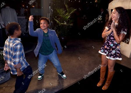Kiana Ledé, Maceo Smedley. Kiana Ledé, from right, Maceo Smedley and guest are seen at Netflix's All About the Washingtons Premiere Party at Madera Kitchen on in Los Angeles