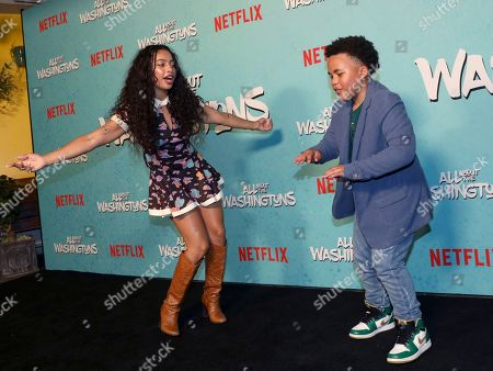 Kiana Ledé, Maceo Smedley. Kiana Ledé, left, and Maceo Smedley are seen at Netflix's All About the Washingtons Premiere Party at Madera Kitchen on in Los Angeles