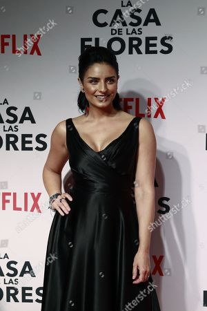 Mexican actress Aislinn Derbez poses during the red carpet of the presentation of the new Netflix series 'La Casa de las Flores' (The House of the flowers), in Mexico City, Mexico, 08 August 2018. The premier of the Mexican production, created by director Manolo Caro and which addresses topics such as homosexuality and the recreational use of marijuana, will be on 10 August on the Netflix platform.