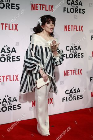 Mexican actress Veronica Castro poses during the red carpet of the presentation of the new Netflix series 'La Casa de las Flores' (The House of the flowers), in Mexico City, Mexico, 08 August 2018. The premier of the Mexican production, created by director Manolo Caro and which addresses topics such as homosexuality and the recreational use of marijuana, will be on 10 August on the Netflix platform.