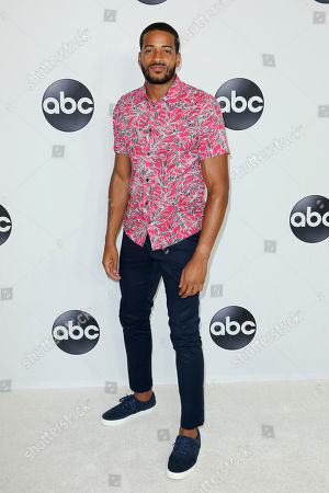 Stock Image of Eric Bigger arrives at the Disney/ABC 2018 Television Critics Association Summer Press Tour at the Beverly Hilton, in Beverly Hills, Calif