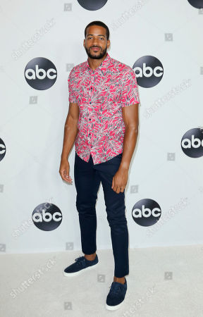 Eric Bigger arrives at the Disney/ABC 2018 Television Critics Association Summer Press Tour at the Beverly Hilton, in Beverly Hills, Calif